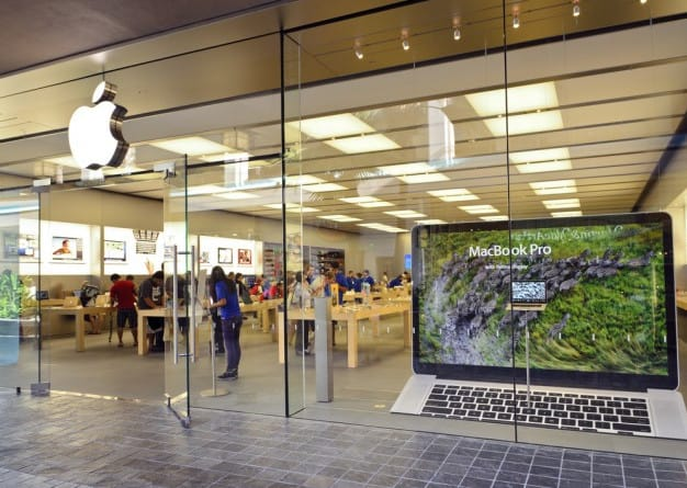 apple store front glass