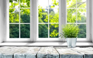 garden glass windows for kitchen